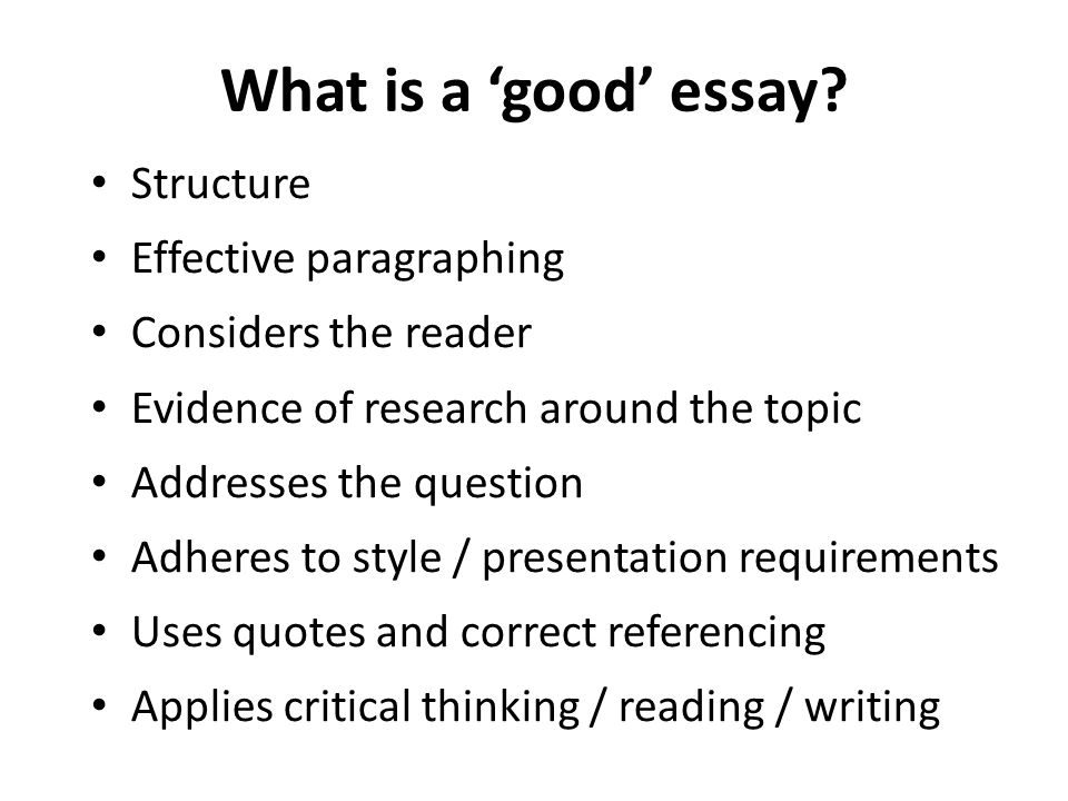 good example essay topics