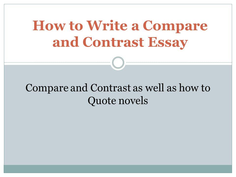 Contrast Essays