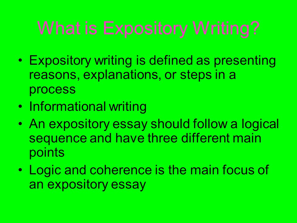 What is Expository Writing.