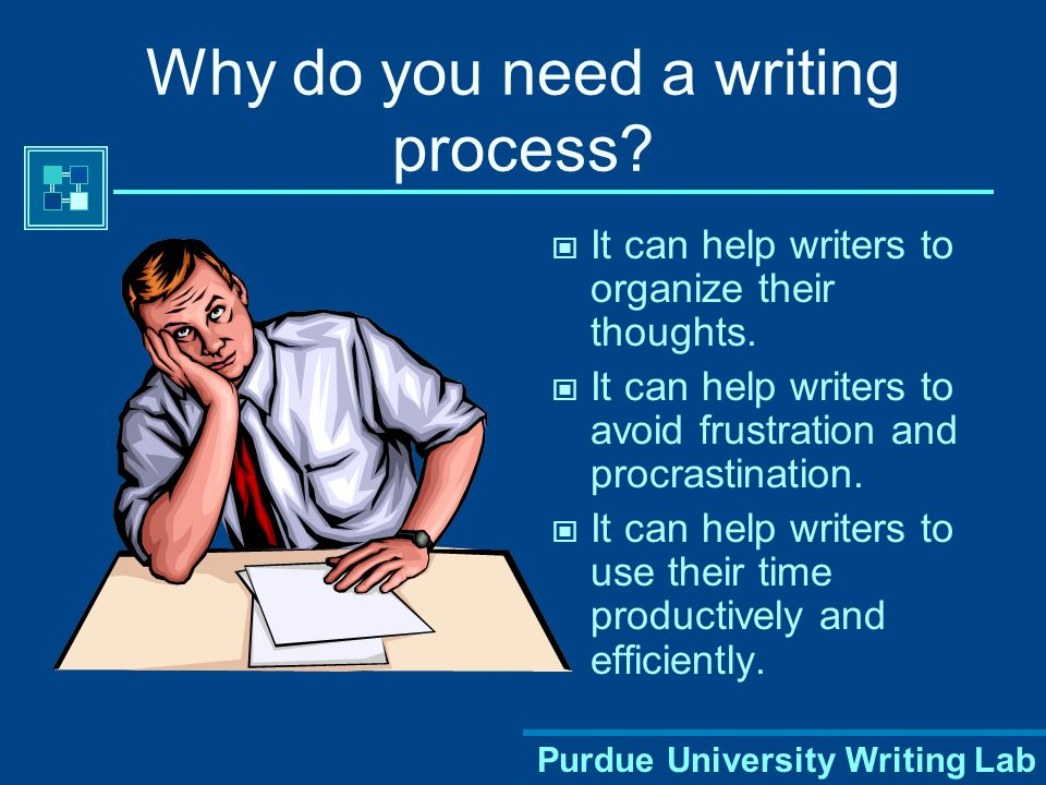 Purdue University Writing Lab Why do you need a writing process.