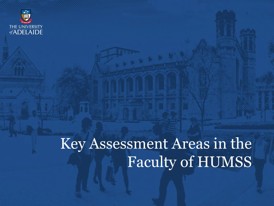 Key Assessment Areas in the Faculty of HUMSS