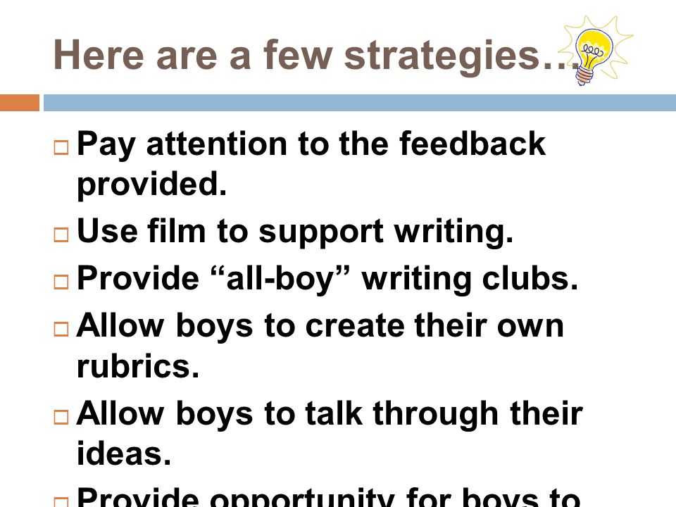 Here are a few strategies…  Pay attention to the feedback provided.