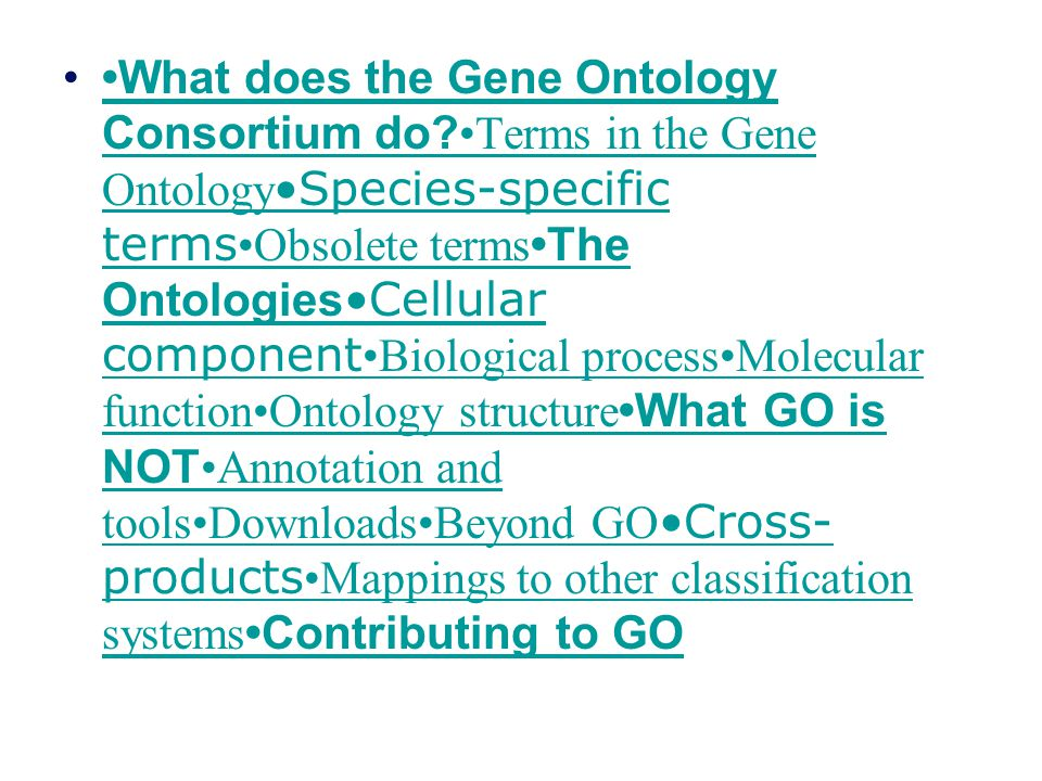 top top Annotation and tools How do the terms in GO become associated with their appropriate gene products.