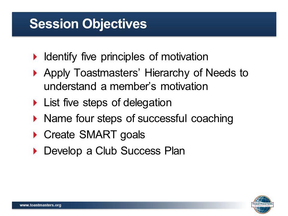 www.toastmasters.org Leadership