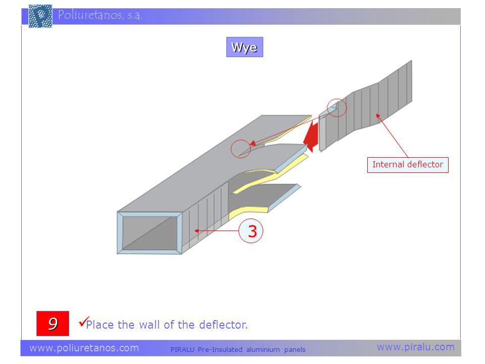 www.piralu.com PIRALU Pre-Insulated aluminium panels www.poliuretanos.com Poliuretanos, s.a.