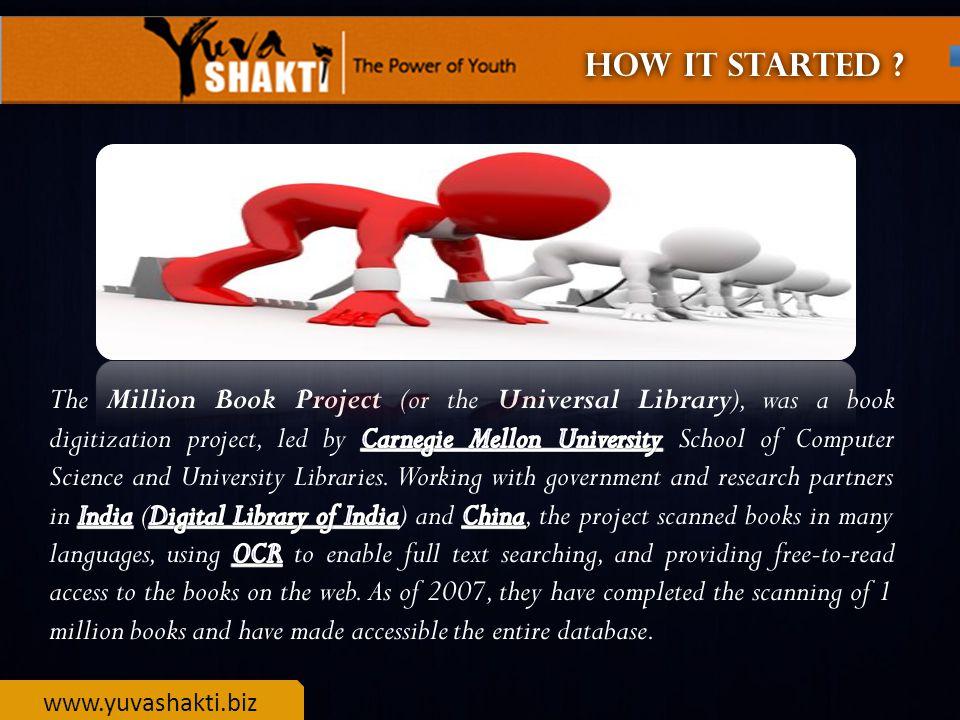 www.yuvashakti.biz MILLION BOOK PROJECT