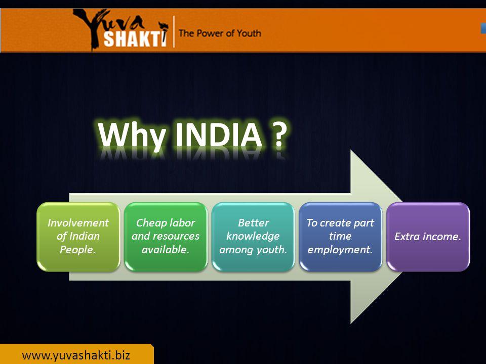 www.yuvashakti.biz 1.Working full/part time at your convenience.