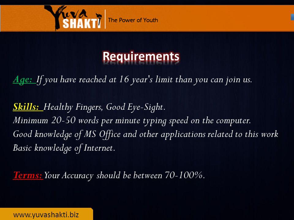 www.yuvashakti.biz (1) What will be the Format of Work.