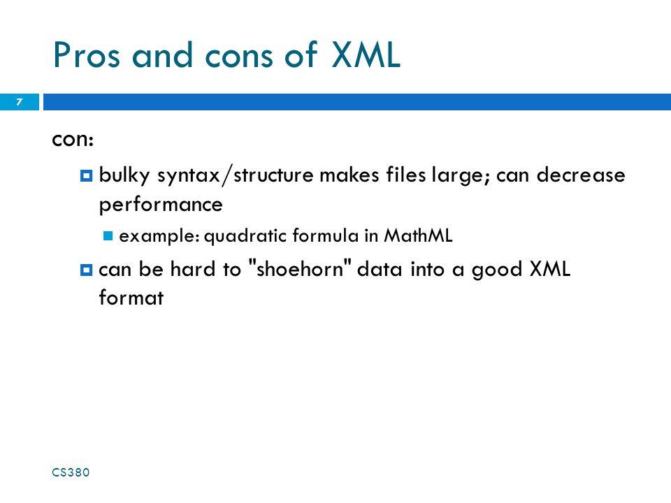 Analyzing a fetched XML file using DOM We can use DOM properties and methods on ajax.responseXML: 18 // zeroth element of array of length 1 var foo = ajax.responseXML.getElementsByTagName( foo )[0]; // ditto var bar = foo.getElementsByTagName( bar )[0]; // array of length 2 var all_bazzes = foo.getElementsByTagName( baz ); // string bleep var bloop = foo.getAttribute( bloop ); JS XML