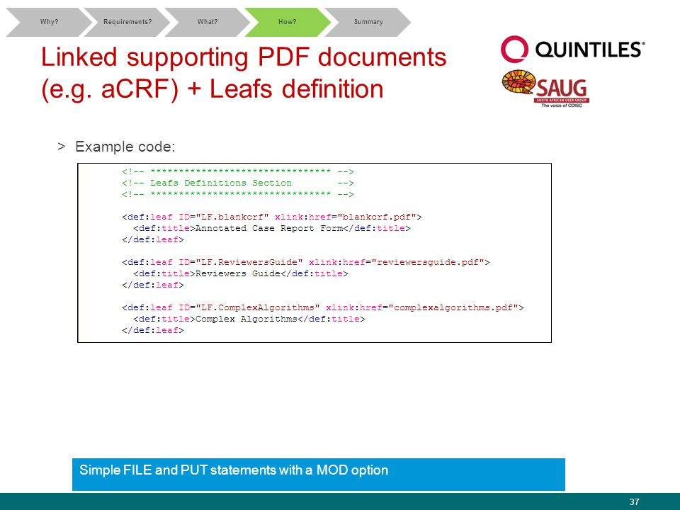 37 Linked supporting PDF documents (e.g.