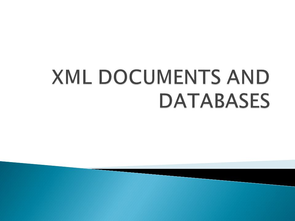  This part is about how XML Documents can be stored and retrieved.