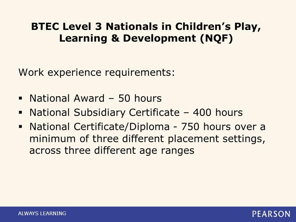 Unit overview Unit(s)Method of assessment Unit 1: Child DevelopmentExternally assessed. Written paper-based exam, available in Jan/June windows, first