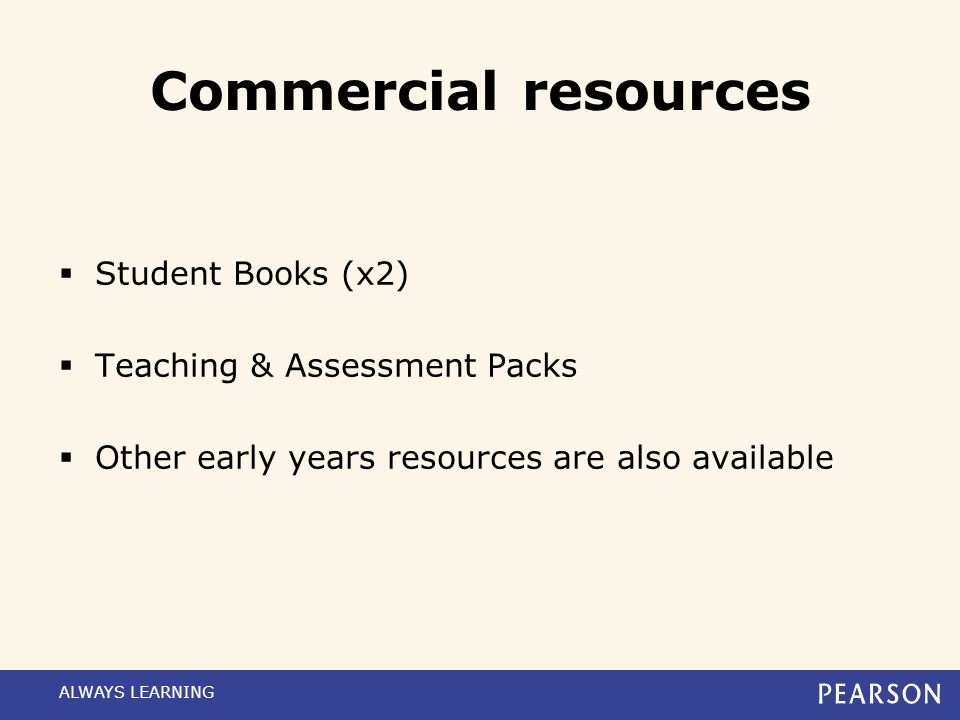 Additional support ALWAYS LEARNING Support materialAvailability SpecificationAvailable now Practical Evidence Portfolio (PEP) Available now Delivery G