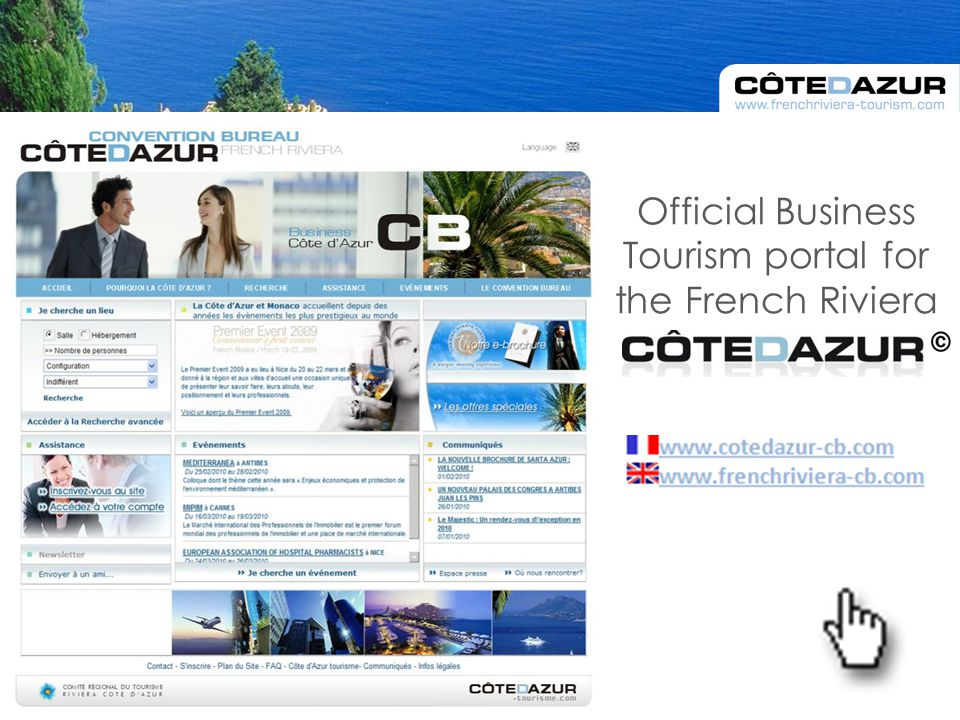 Official Business Tourism portal for the French Riviera