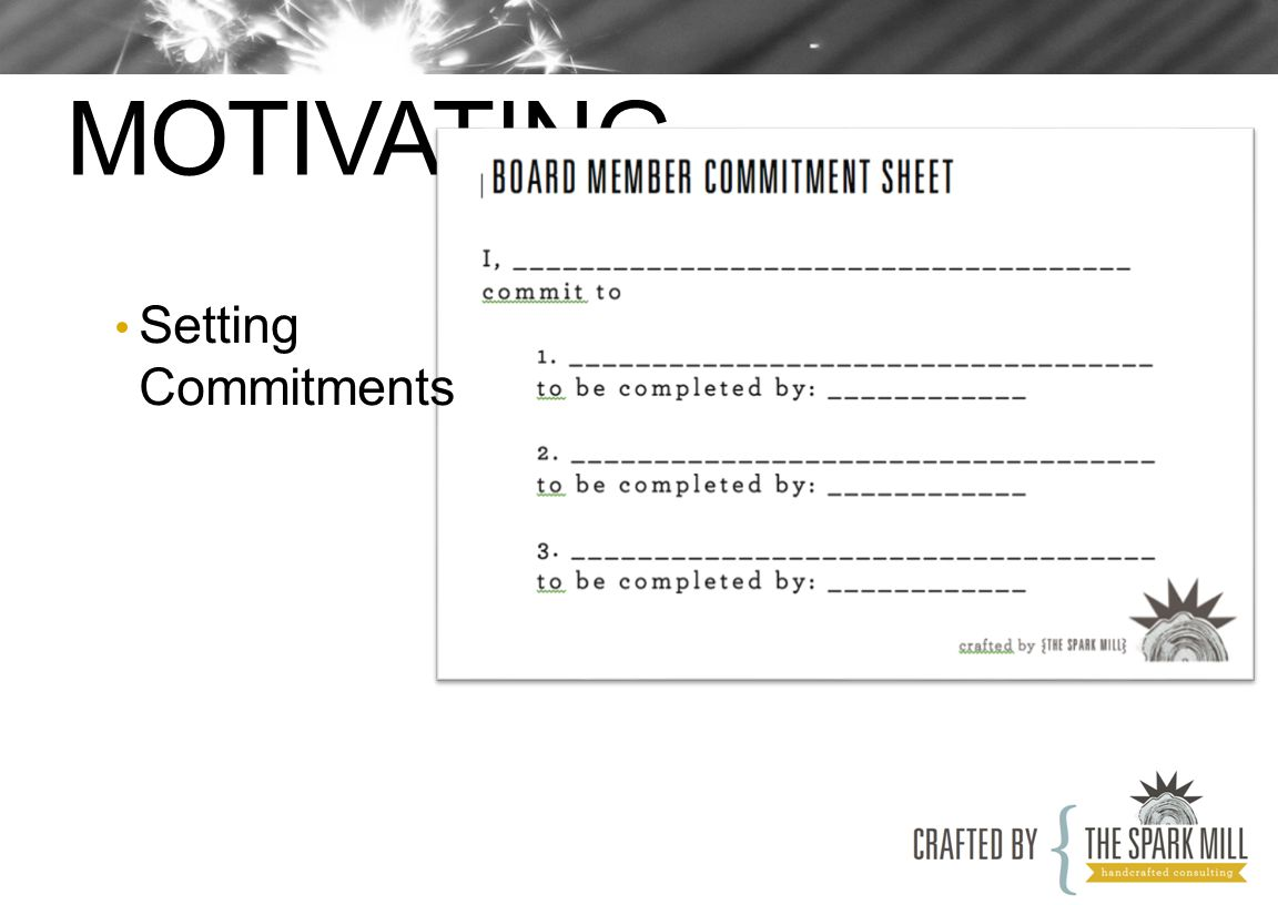 MOTIVATING Setting Commitments