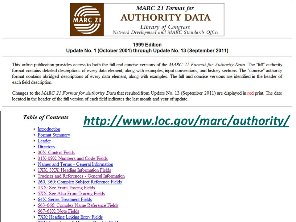 http://www.loc.gov/marc/authority/