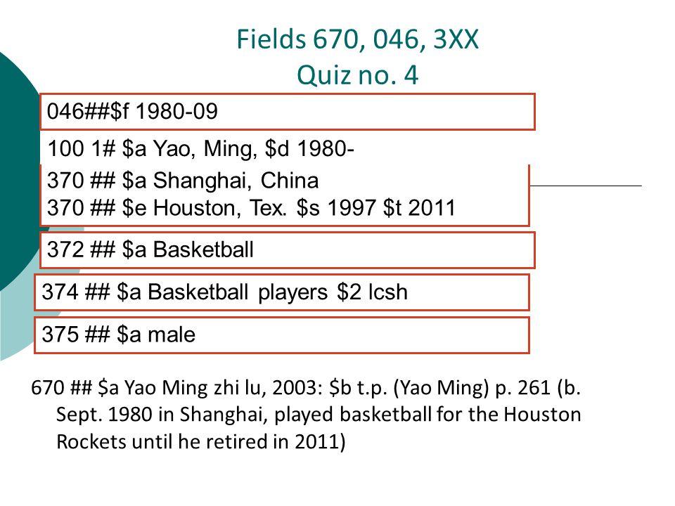 670 ## $a Yao Ming zhi lu, 2003: $b t.p. (Yao Ming) p.