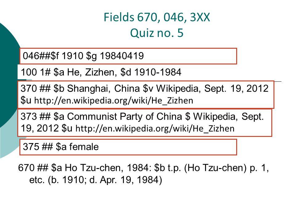 670 ## $a Ho Tzu-chen, 1984: $b t.p. (Ho Tzu-chen) p.