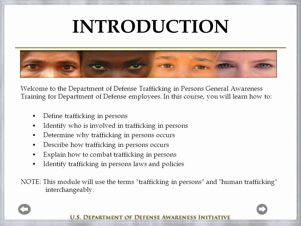 Module 4 – How does Trafficking in Persons Occur.