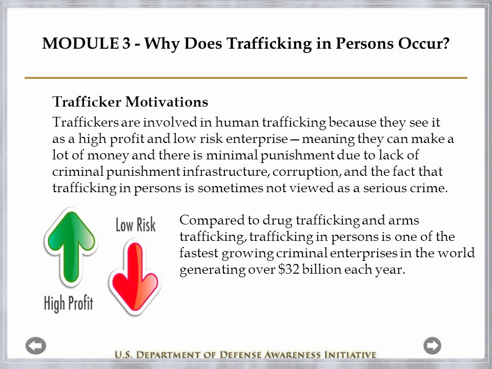 MODULE 3 - Why Does Trafficking in Persons Occur.