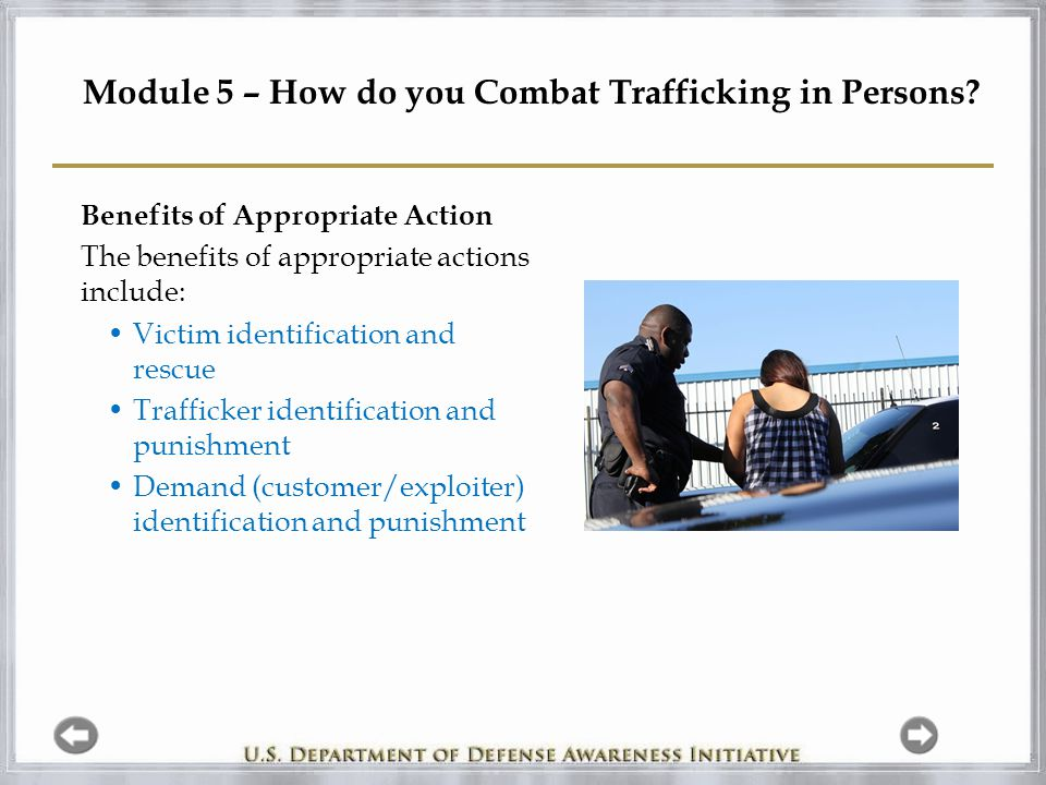 Module 5 – How do you Combat Trafficking in Persons.
