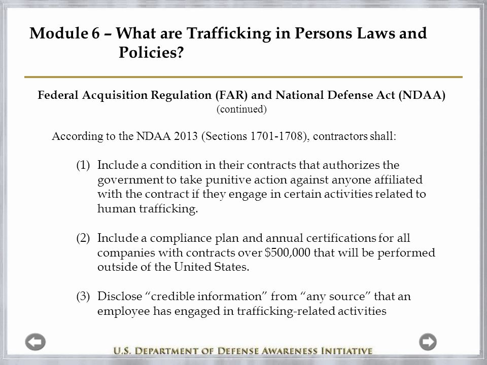Module 6 – What are Trafficking in Persons Laws and Policies.