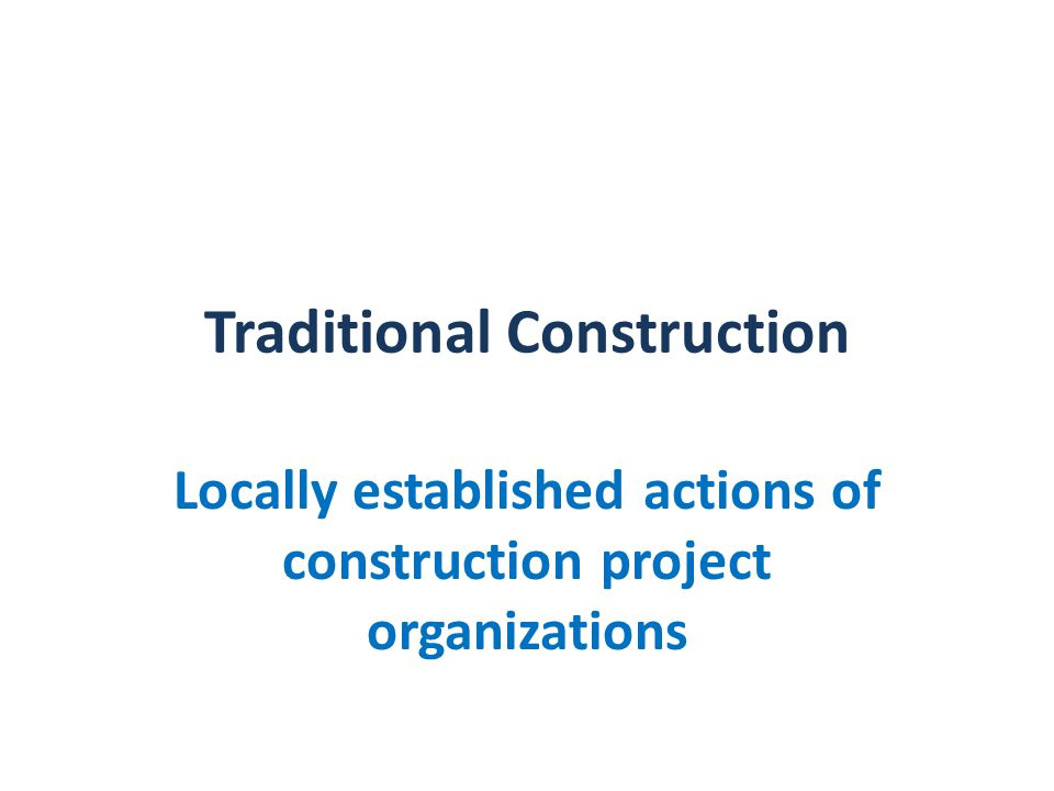 USA Specialist Contractor Design Overall design by architect Detail design by specialists Specialists sort out problems quickly Stylish building spoilt by awkward junctions between technologies Poor at dealing with innovative designs