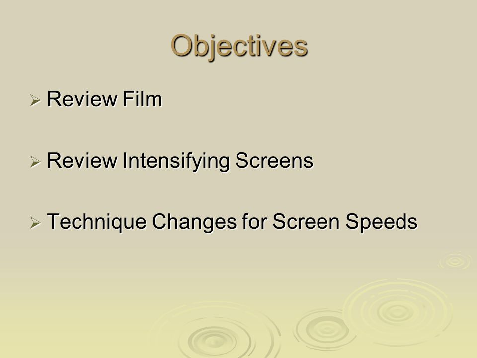 Screen speed vs Spatial resolution