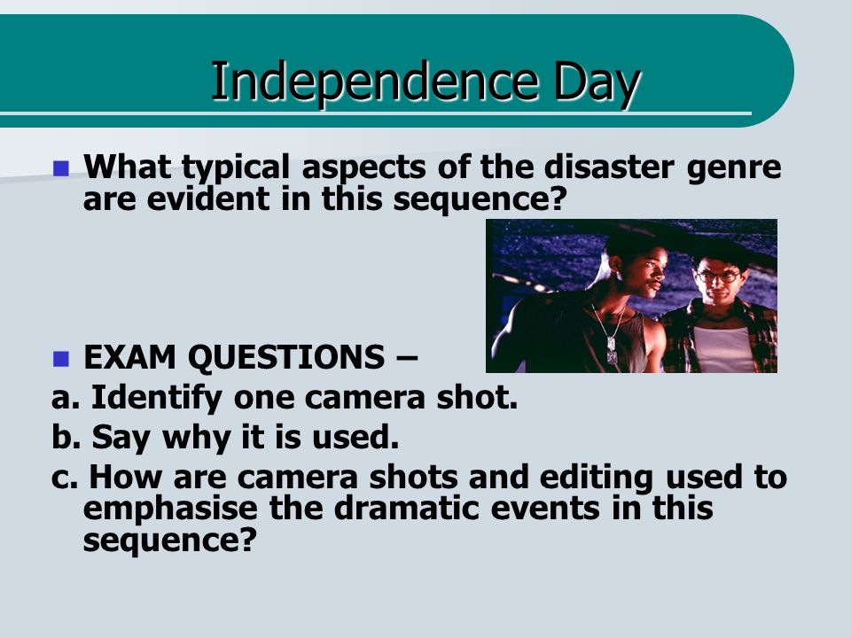 Deep Impact – question 2 What typical aspects of the disaster genre are evident in this sequence.