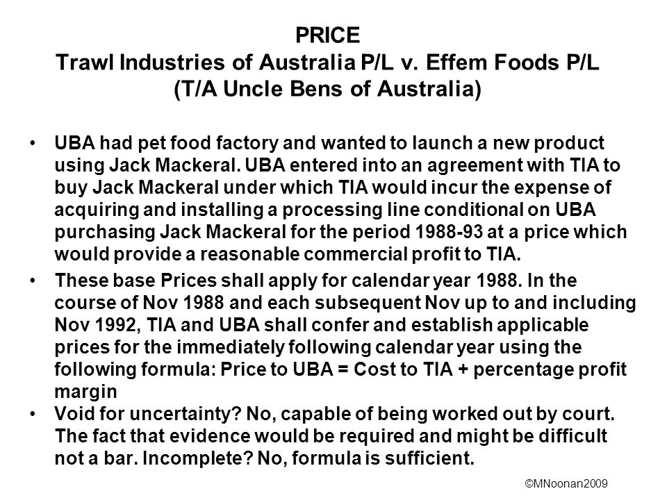 ©MNoonan2009 PRICE Trawl Industries of Australia P/L v.