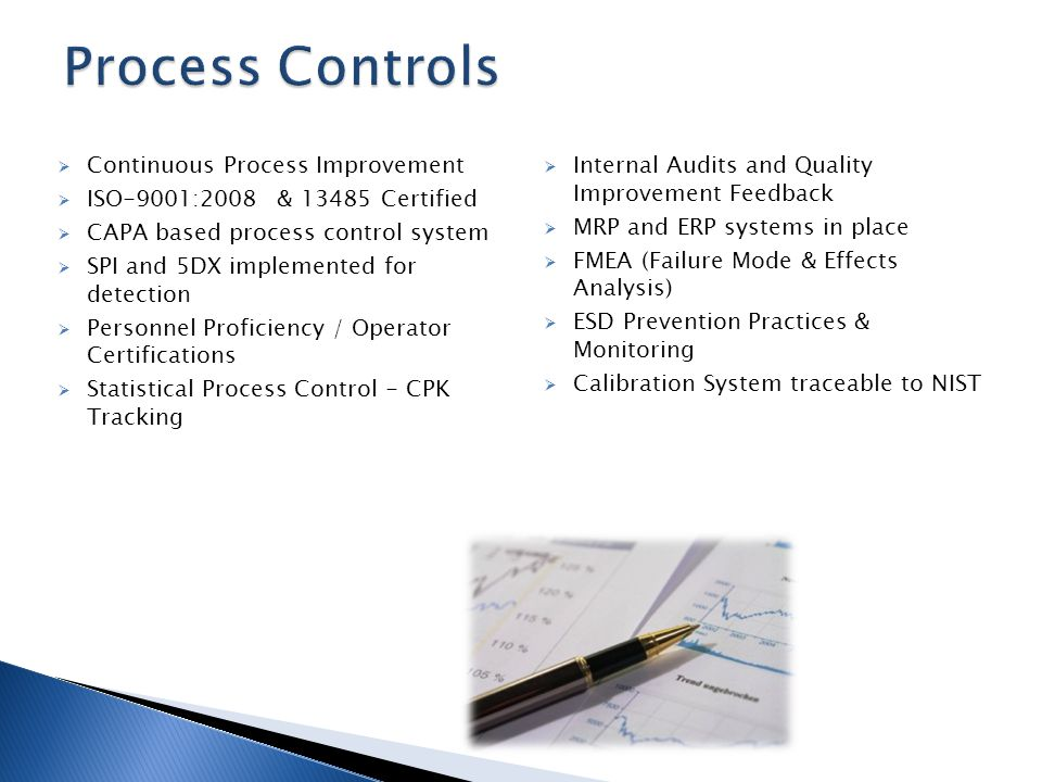 Process Control SEM QUALITY MONITORS – JAN'2014 Mean = 8.5934 StdDev = 0.078187 USL = 9.5 LSL = 7.5 Sigma Level = 11.5953 Sigma Capability is Greater Than 7 Cpk = 3.8651 Cp = 4.2633 DPM =.00000000 N = 32 This Cpk is considered fair based on the following scale: 0 to less than 1.0 is unacceptable; Greater than 1 to 1.33 is fair; Greater than 1.33 to 1.66 is acceptable; Greater than 1.66 is exceptional