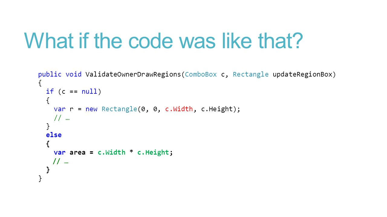What if the code was like that.