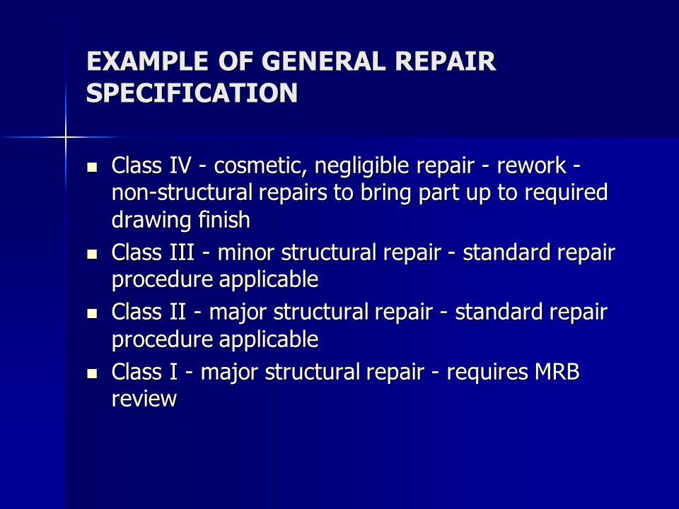 TYPES OF COMPOSITE REPAIRS bolt on repair bolt on repair filling filling –resin/adhesive/syntactic foam/composite removing/filling removing/filling –scarf repair (50:1 if possible)