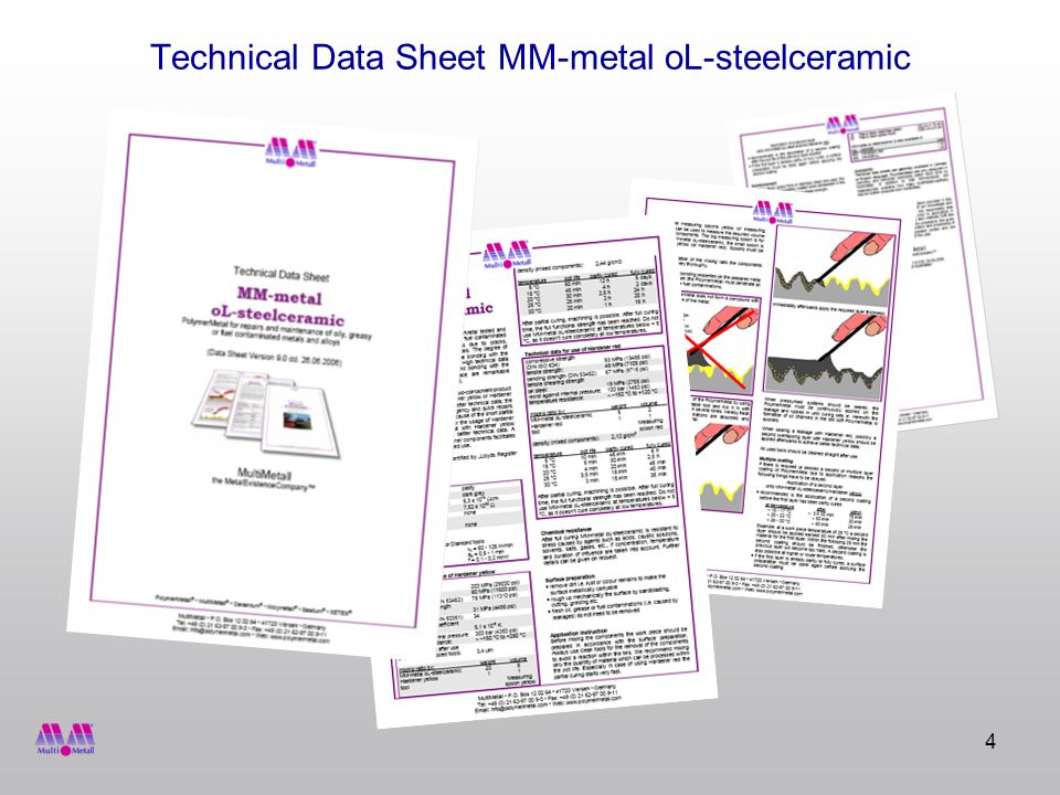 4 Technical Data Sheet MM-metal oL-steelceramic