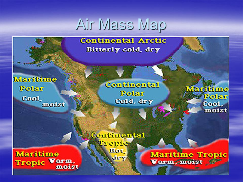 Air Mass Map
