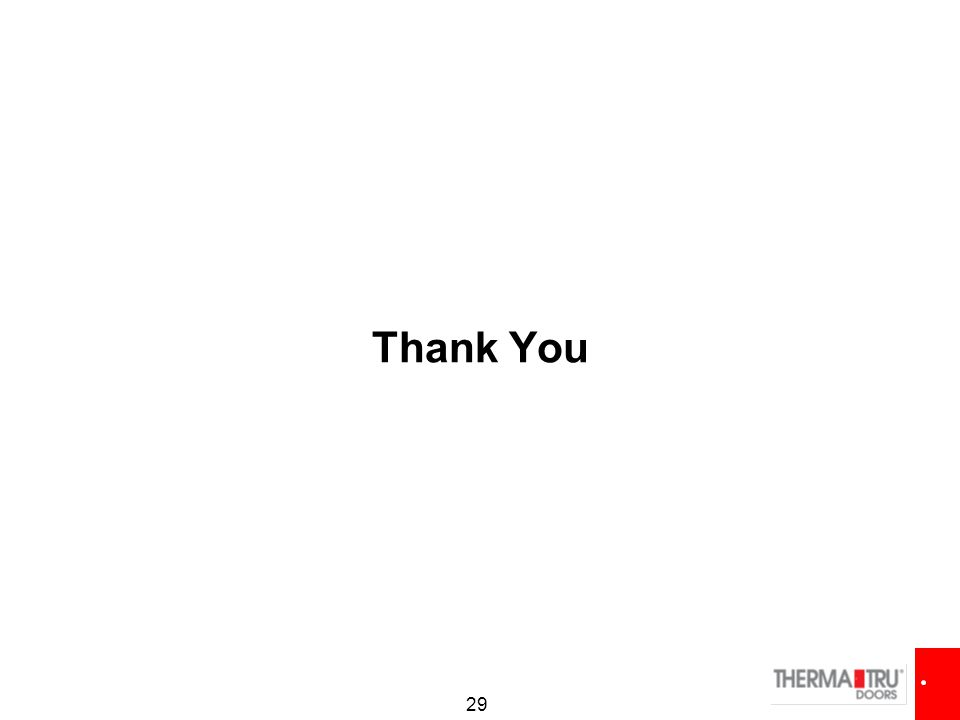 29 Thank You