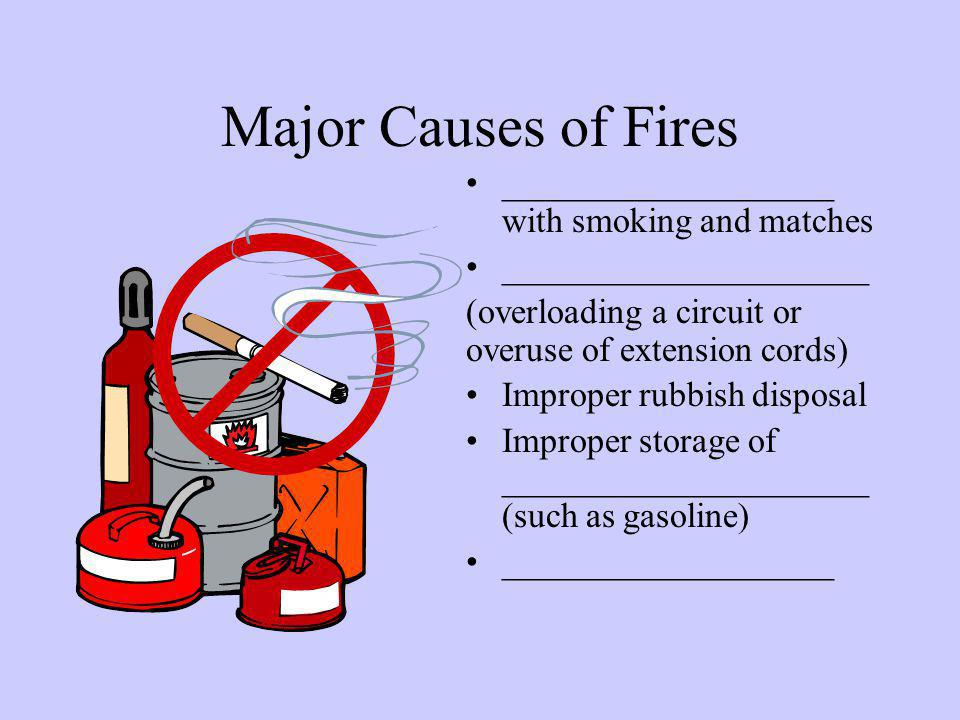 Types of fires Class __ Fire –Flammable liquids, such as grease, gasoline, oil, etc.