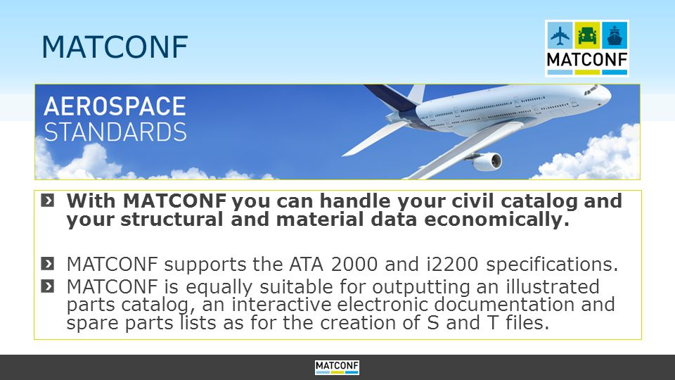 MATCONF With MATCONF you can handle your civil catalog and your structural and material data economically.