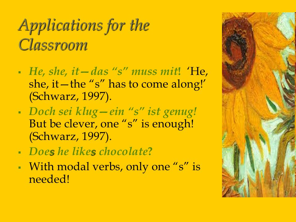 Applications for the Classroom   He, she, it—das s muss mit .