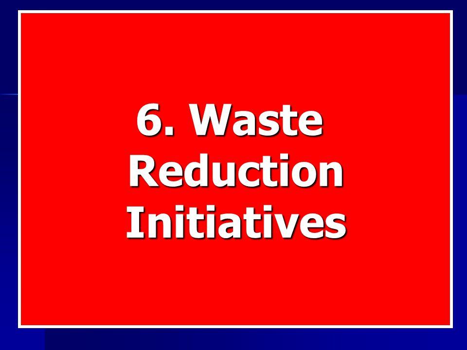 6. Waste ReductionInitiatives
