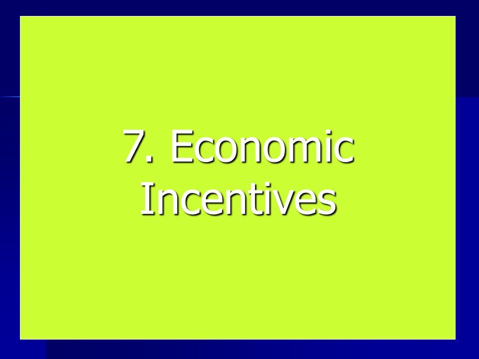 7. Economic Incentives