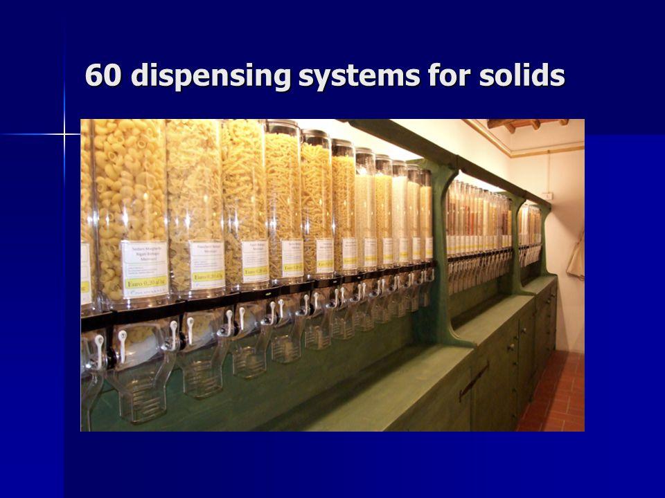 60 taps for liquids