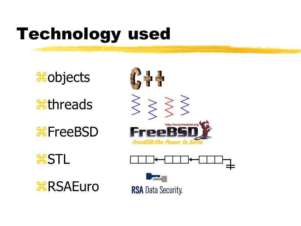 Technology used zobjects zthreads zFreeBSD zSTL zRSAEuro
