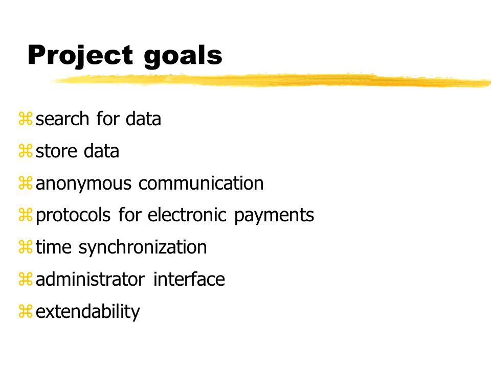 Eso z search data z store data z payments for storage z time synchronization