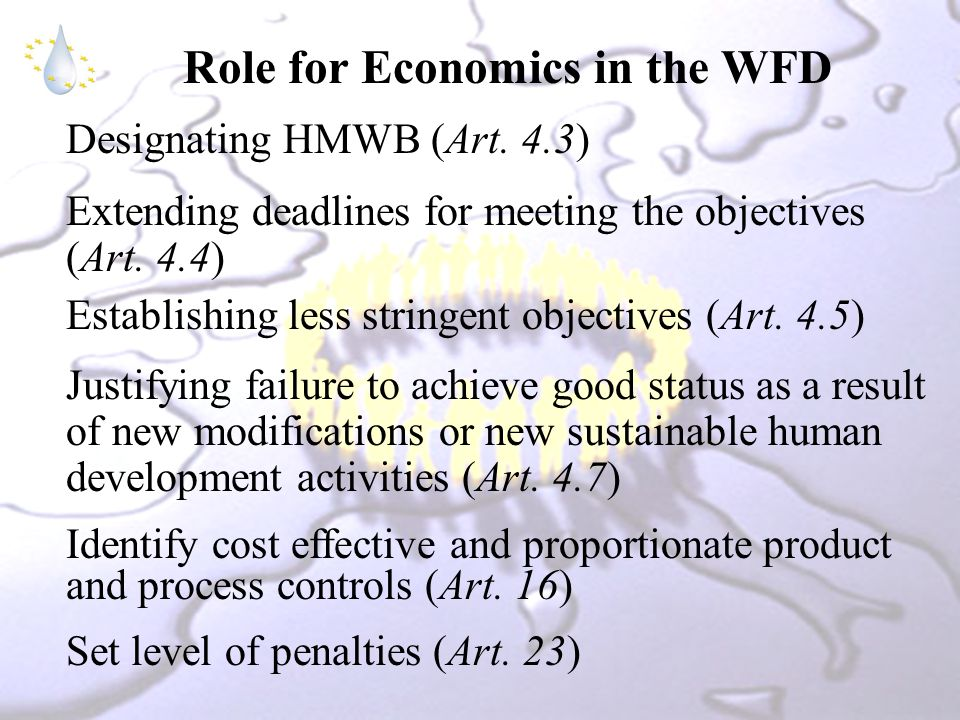 Role for Economics in the WFD Designating HMWB (Art.