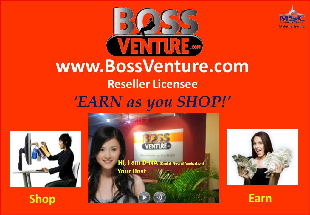 Online Shopping where YOU are in control!