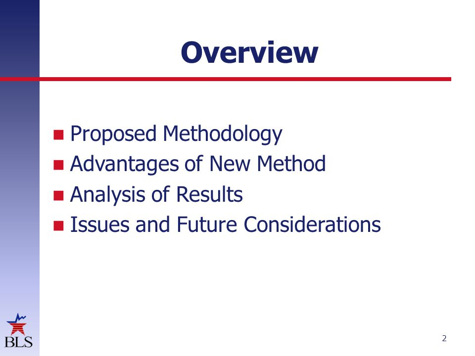 Overview Proposed Methodology Advantages of New Method Analysis of Results Issues and Future Considerations 2