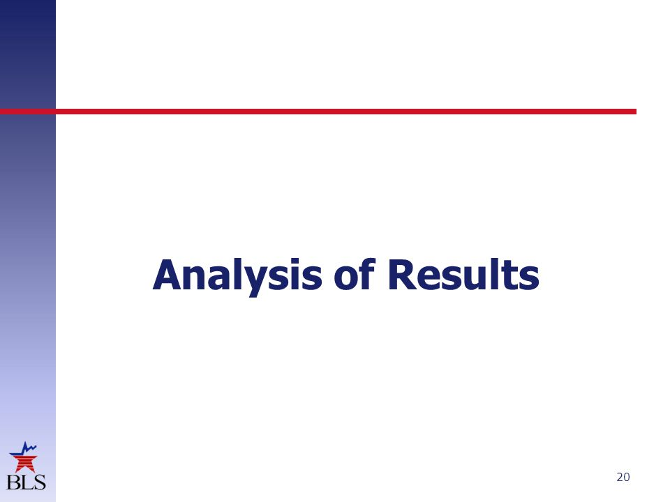 Analysis of Results 20
