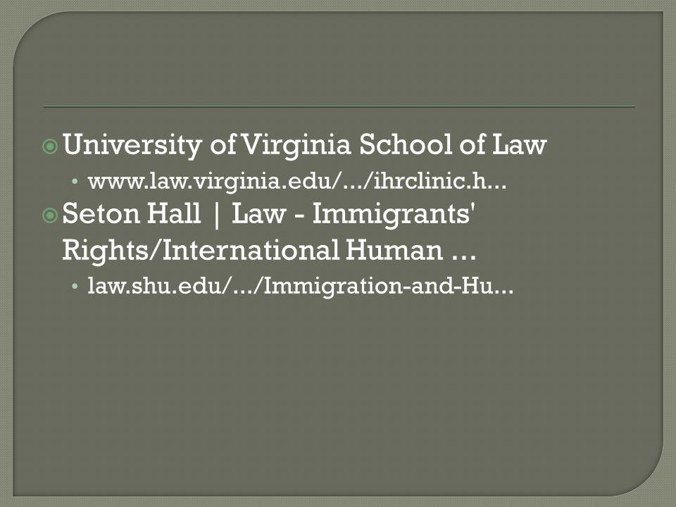  University of Virginia School of Law www.law.virginia.edu/.../ihrclinic.h...