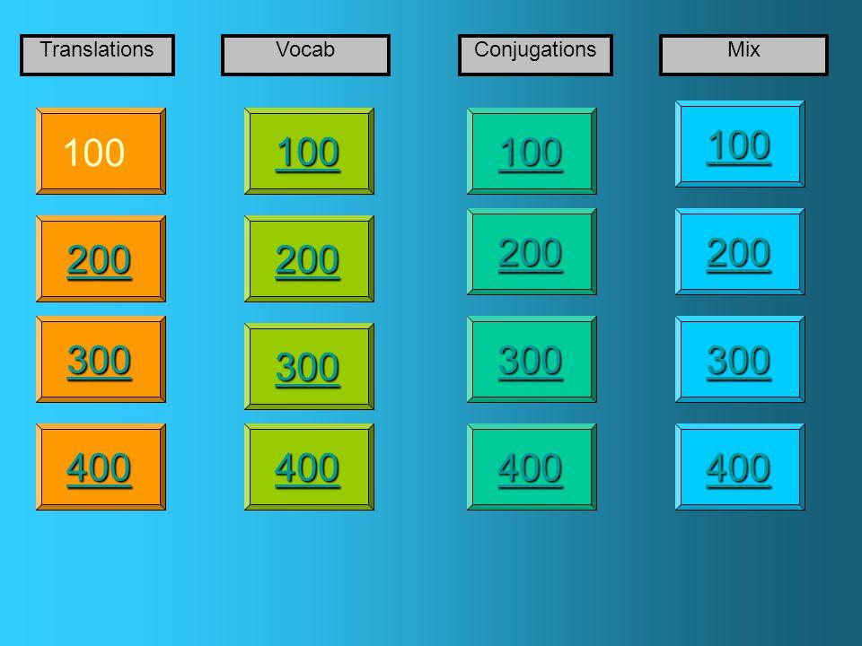 100 200 400 300 400 TranslationsVocabConjugationsMix 300 200 400 200 100
